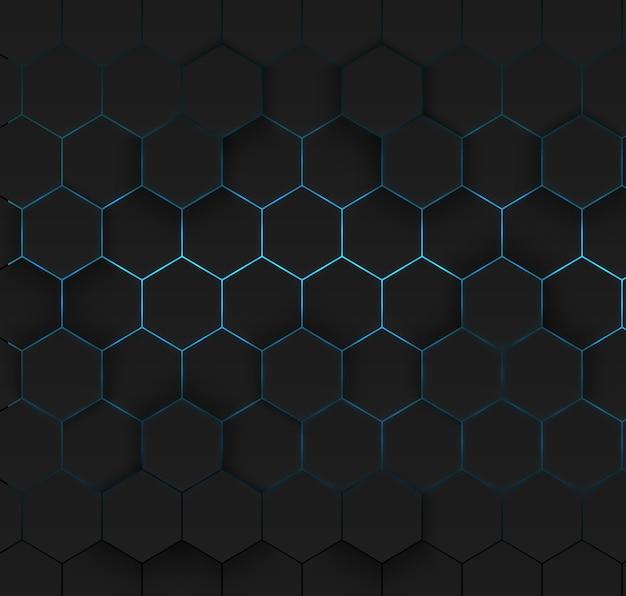Fond abstrait cellule hexagonale rougeoyante