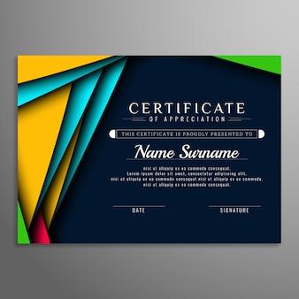 Fond abstrait certificat moderne