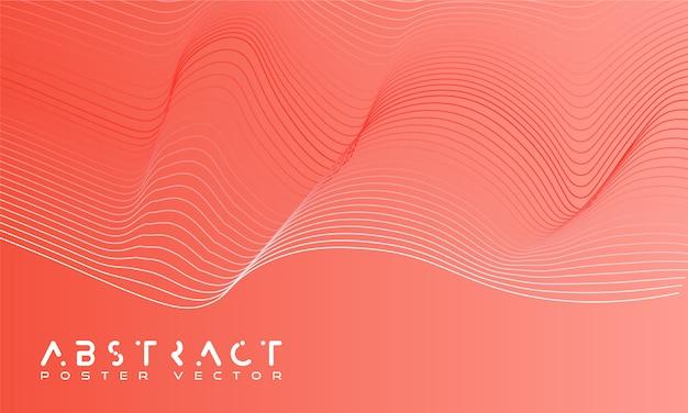 Fond abstrait clair avec des vagues dynamiques.