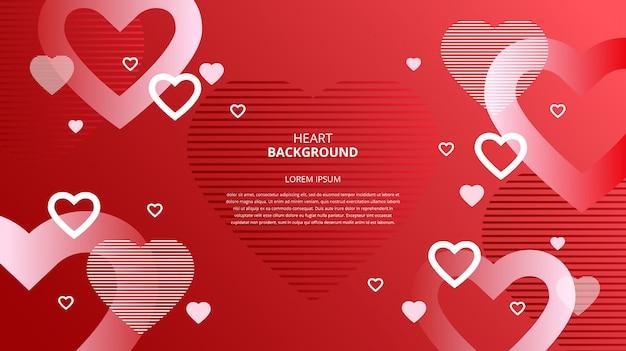 Fond abstrait coeurs
