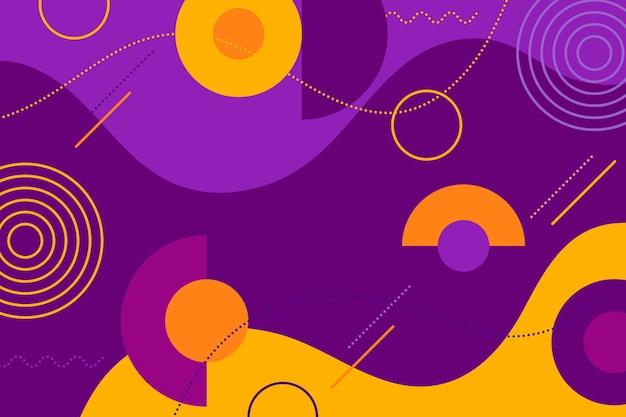 Fond abstrait coloré design plat