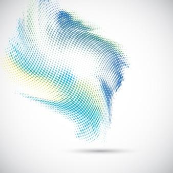 Fond abstrait avec une conception de points de demi-teintes