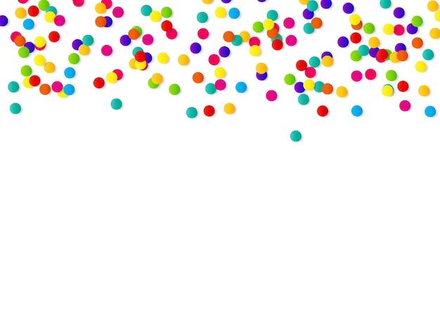 Fond abstrait de confettis avec des confettis à pois.