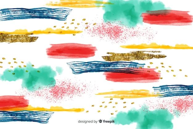 Fond abstrait coups de pinceau coloré