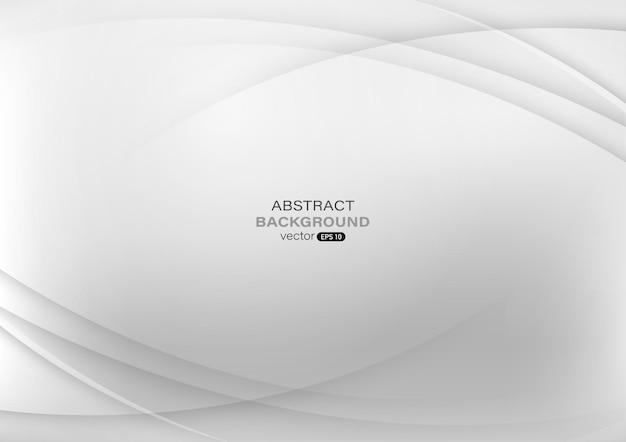 Fond abstrait courbe blanc et gris.
