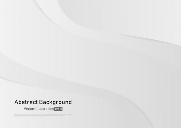 Fond abstrait courbe de couleur dégradé blanc et gris.
