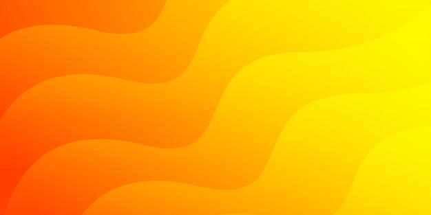 Fond abstrait courbe orange coloré