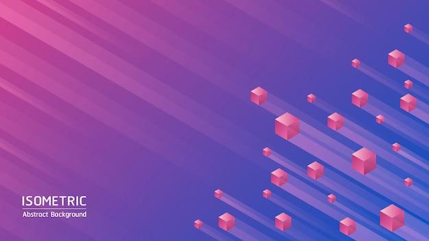 Fond abstrait. cubes isométriques sur fond abstrait