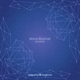 Fond abstrait de blockchain
