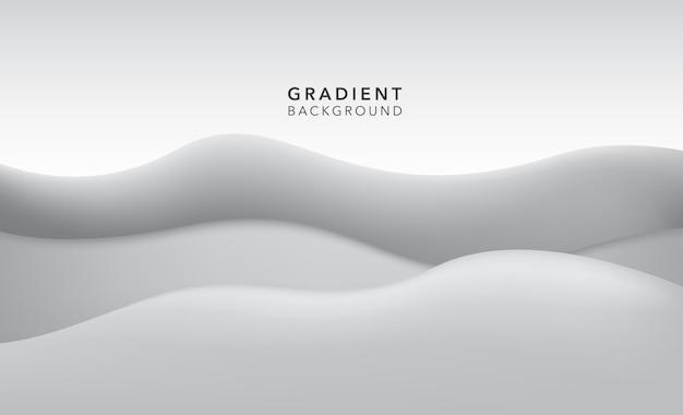 Fond abstrait dégradé blanc en niveaux de gris