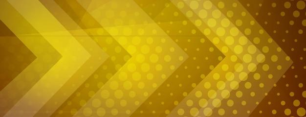 Fond abstrait demi-teinte fait de points et de formes géométriques aux couleurs dorées