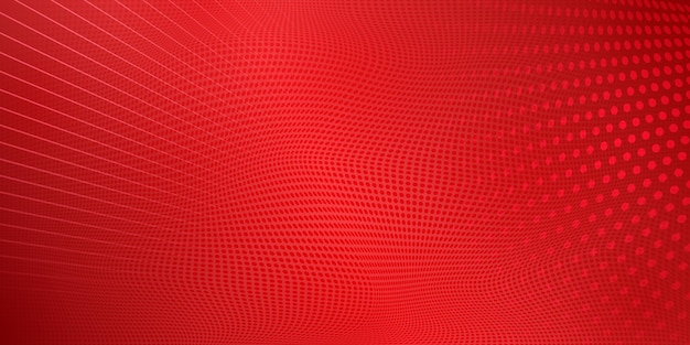 Fond abstrait demi-teinte fait de points et de lignes de couleurs rouges