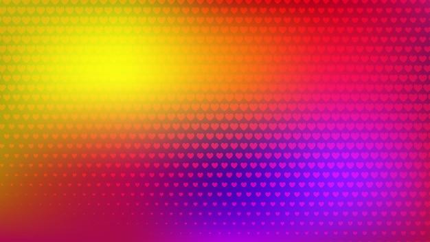 Fond abstrait demi-teinte de petites taches colorées de symboleson