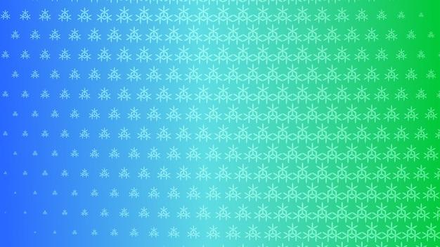 Fond abstrait demi-teinte de petits symboles dans les couleurs vertes et bleues