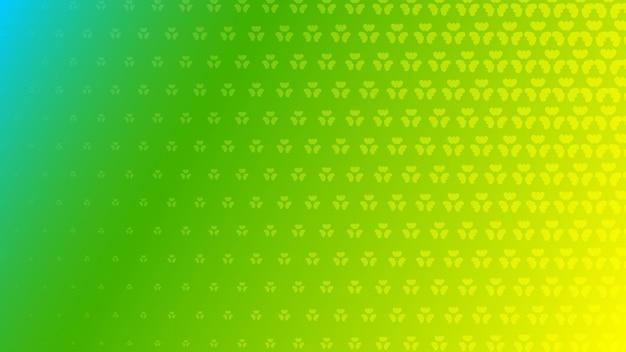 Fond abstrait demi-teinte de petits symboles dans des couleurs vertes et jaunes