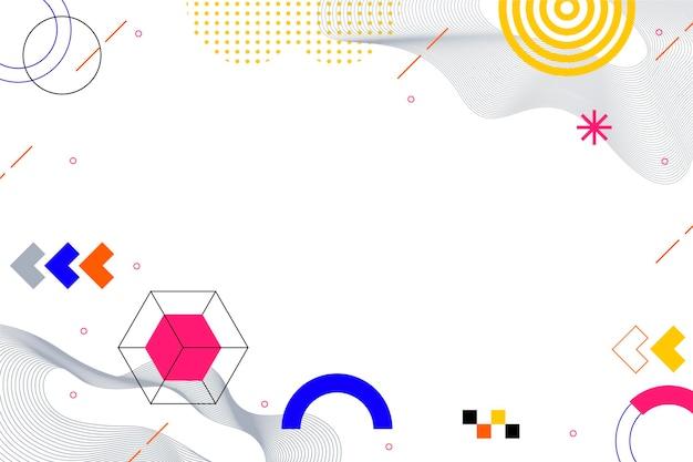 Fond abstrait design plat avec des formes colorées