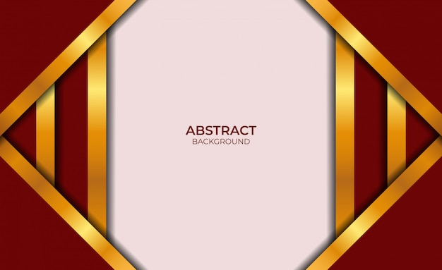 Fond abstrait design rouge et or