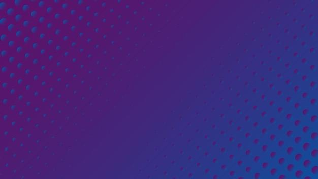 Fond abstrait de dimensions de balle avec dégradé bleu et violet