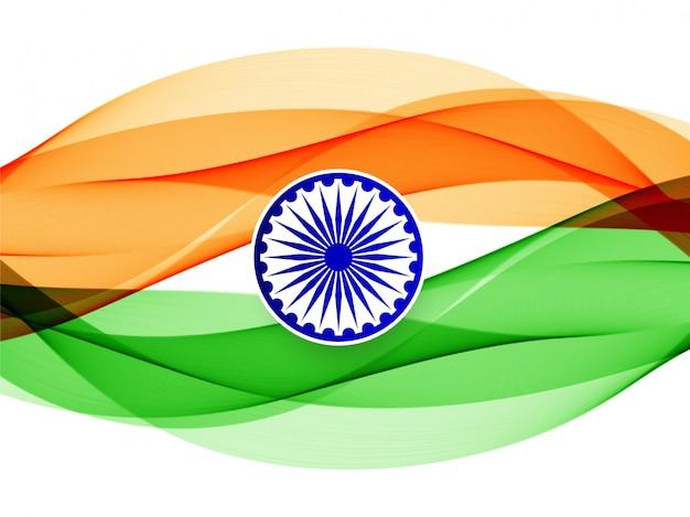 Fond abstrait drapeau indien ondulé