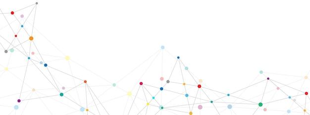 Fond abstrait du plexus avec des points et des lignes de connexion. connexion au réseau mondial, technologie numérique et concept de communication.