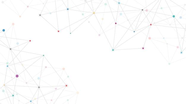 Fond abstrait du plexus avec des points et des lignes de connexion