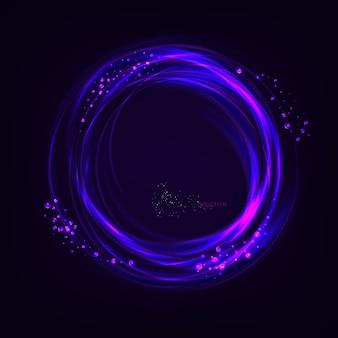 Fond abstrait effet de lumière bleu et jaune