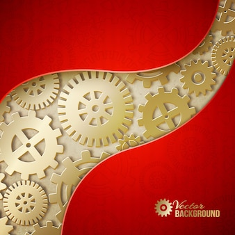 Fond abstrait d'engrenages mécaniques.