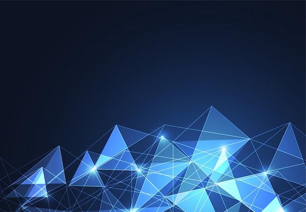 Fond abstrait espace polygonale