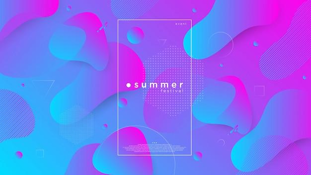 Fond abstrait de l'été