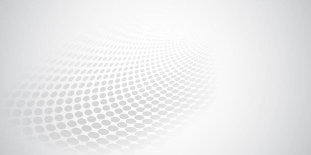 Fond abstrait fait de points de demi-teintes dans des couleurs blanches et grises