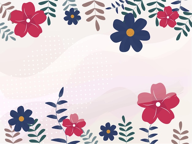 Fond abstrait floral coloré