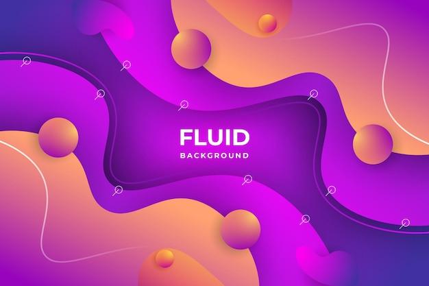Fond abstrait fluide vecteur premium