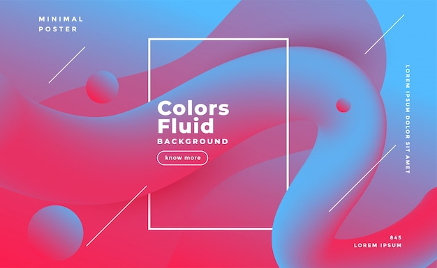 Fond abstrait forme fluide en couleurs bicolores