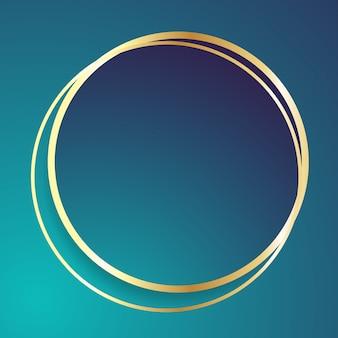 Fond abstrait forme ronde dorée