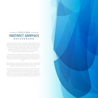 Fond abstrait avec des formes bleues