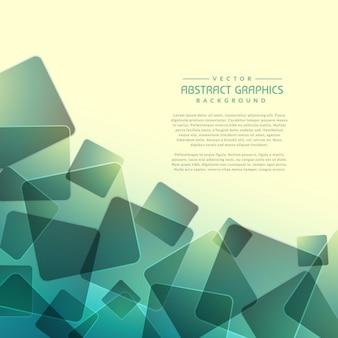 Fond abstrait avec des formes carrées aléatoires