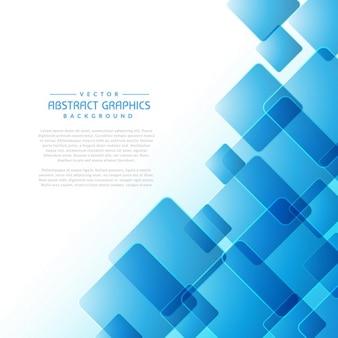 Fond abstrait avec des formes carrées bleues