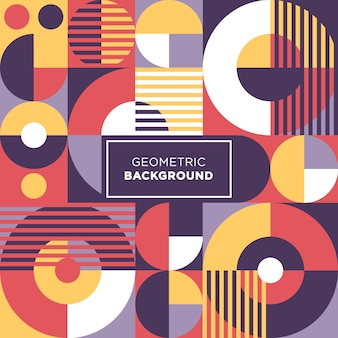 Fond abstrait formes colorées cercle