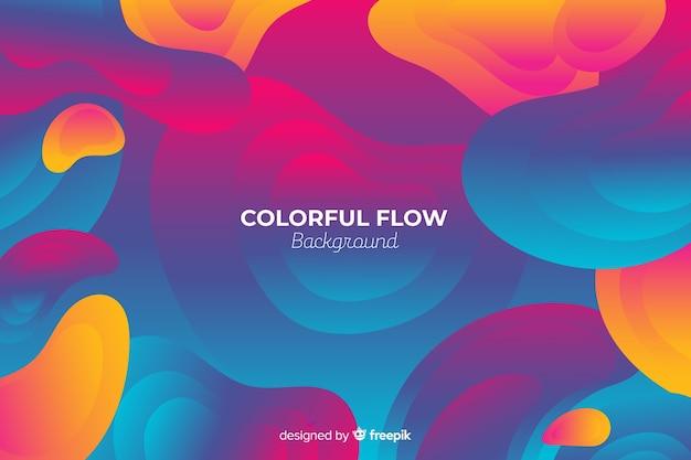 Fond abstrait formes colorées