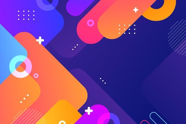 Fond abstrait de formes colorées