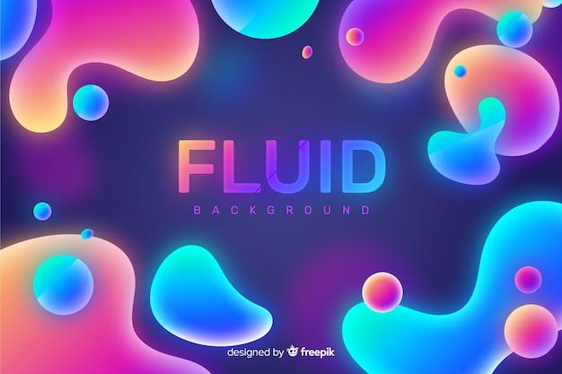 Fond abstrait formes fluides