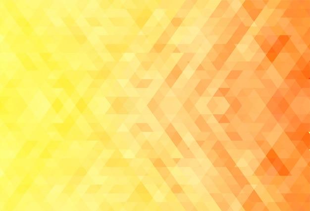 Fond abstrait de formes géométriques orange et jaune