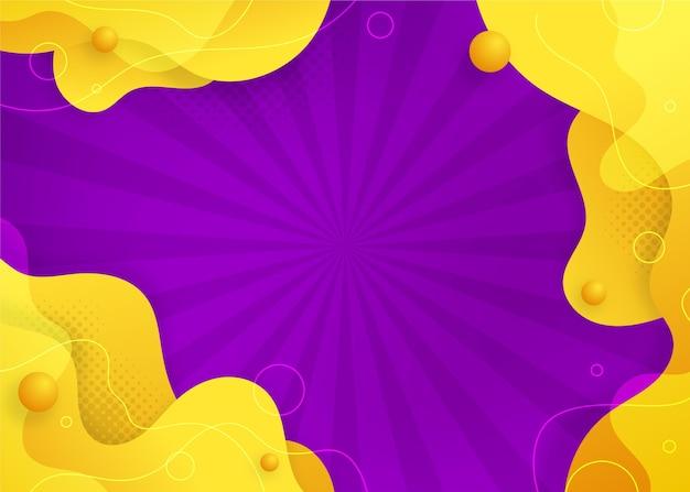 Fond abstrait de formes liquides