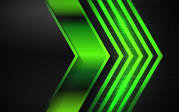 Fond abstrait de formes métalliques noir et vert