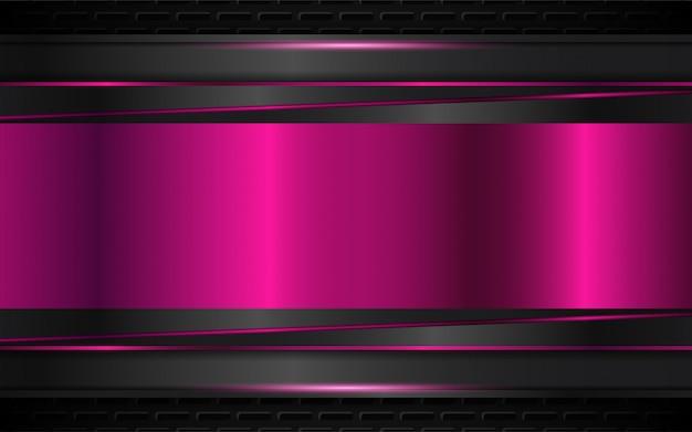 Fond abstrait de formes métalliques noir et violet