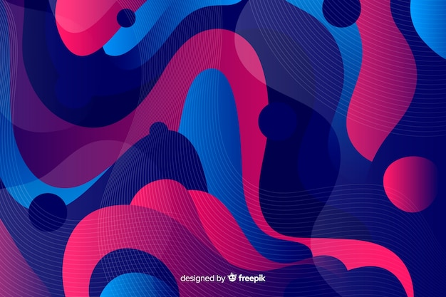 Fond abstrait formes ondulées colorées