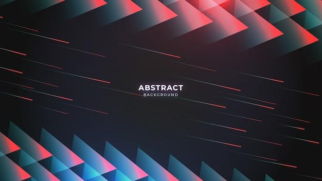 Fond abstrait futuriste triangulaire