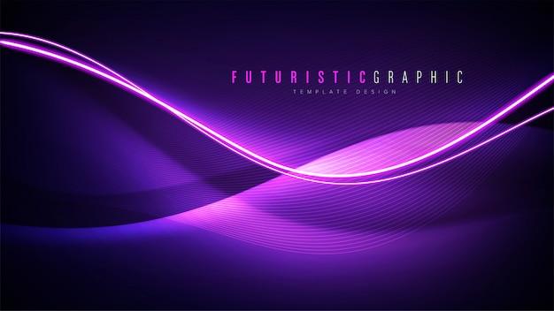 Fond abstrait futuriste