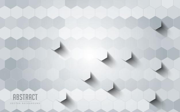 Fond abstrait géométrique couleur gris et blanc.