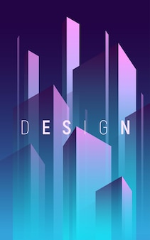 Fond abstrait géométrique dégradé, couverture minimale colorée